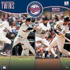 Celebrate America's national pastime every day of the year with a vibrant, fully loaded, action-packed wall calendar featuring your favorite MLB team! The 2013 Minnesota Twins wall calendar delivers everything the ultimate fan could want with player bios, team trivia and noteworthy historical MLB dates listed each month!  $15.99  http://www.calendars.com/Minnesota-Twins/Minnesota-Twins-2013-Wall-Calendar/prod201300001123/?categoryId=cat00432=cat00432#