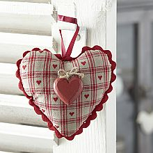 Maison Padded Hanging Heart-Multi Heart
