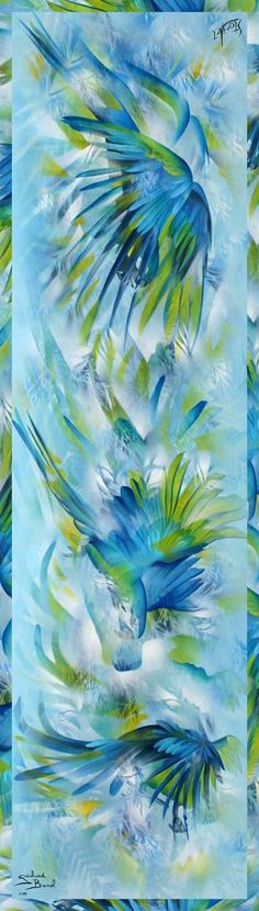 "Sil bufanda arte ""Perroquets"":"