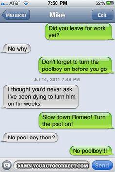 funny auto-correct texts - Summer Lovin