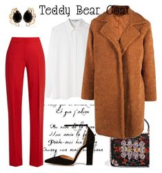 """Teddy Bear Coat"" by ripper91 ❤ liked on Polyvore featuring Acne Studios, MaxMara, Bounkit, Gianvito Rossi, Alexander McQueen and Boohoo"
