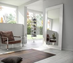 Modloft Modern Furniture Official Store: SP924 Norfolk Mirror - $549 in white lacquer or black finish