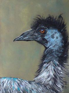 I'm Gorgeous! Funny Emu' by Julie Hollis Quirky Art, Weird Art, Animal Paintings, Paintings For Sale, Buy Art Online, Cool Art, Fun Art, Emu, Australian Artists