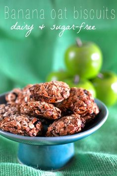 Four ingredient banana oat biscuits - Claire K Creations