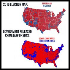 I think not. >>>>>The map is true, but not for the reason it stated, crime is higher in Democratic areas as they are focused in cities, which have a higher population compared to rural areas, thus more crime Meryl Streep, Liberal Logic, Political Memes, Conservative Politics, Truth Hurts, It Goes On, God Bless America, Thing 1, We The People
