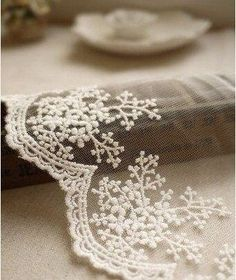 Country Shabby Chic Farmhouse Red Gray Cotton Ribbon Lace Edging Trims Primitive