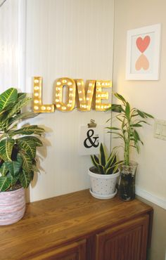 All you need is...Love. DIY marquee sign