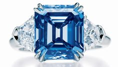 My engagement ring | Harry Winston's 10-carat vivid blue diamond ring