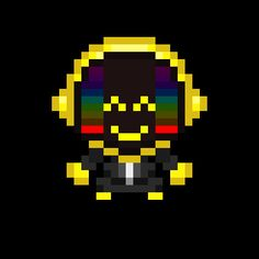 Daft Punk Pixel Upsized - Weirdly Normal