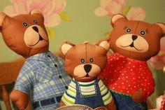 The three bears Teddy Bears, Christmas Crafts, Toys, Animals, Activity Toys, Animales, Animaux, Clearance Toys, Animal
