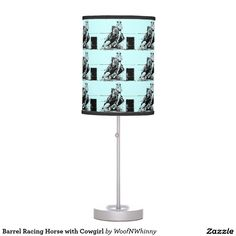 Barrel Racing Horse by WoofNWhinny* Table Lamp.  Choose your colors.  .............. #horse #barrelracing #pony #lamp #light #gift #giftidea #horselover #cowboy #cowgirl #western #rance #rodeo