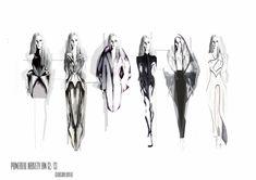 Fashion portfolio concept illustrations by Georgina Bovill Fashion Sketchbook, Fashion Sketches, Sketchbook Ideas, Fashion Illustrations, Magazine Collage, Chic Summer Style, Fashion Details, Fashion Design, Sketch Inspiration