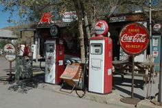 Route 66  This is an old gas station in Hackberry, AZ along a stretch of old U.S. 66