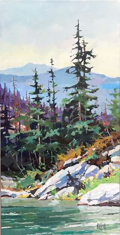 Canadian painter Randy Hayashi is a featured artist at the mountain galleries at the fairmont. Watercolor Trees, Watercolor Artists, Watercolor Paintings, Abstract Paintings, Paintings Of Trees, Watercolor Portraits, Watercolours, Painting Art, Art Sketches