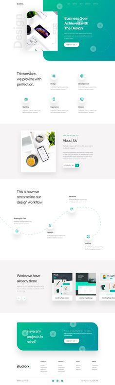 Dribbble - by Luova Studio Website Design Layout, Web Layout, Website Designs, Website Ideas, Website Design Inspiration, Graphic Design Inspiration, Beautiful Website Design, Template Web, Web Ui Design