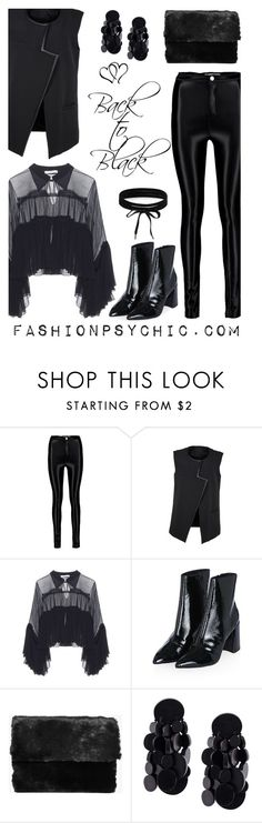 """""""Back To Black"""" by fashionpsychic on Polyvore featuring Chloé, Topshop, Boohoo and Monies"""