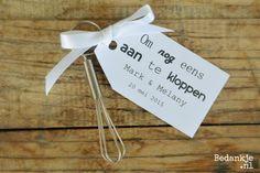 Origineel trouwbedankje: Mini garde(€ 1,75) Voor meer informatie en andere originele en leuke bedankjes ga naar www.bedankje.nl