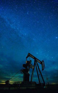 Pump Jack and Milky Way.