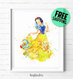 Disney Snow White print, Disney print, Disney Princess Snow White poster, Disney poster, Snow White art print, wall art, kids Decor, 357  $9.95