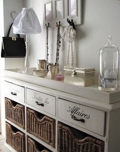 Lovely romantic, shabby chic style in the hallway.
