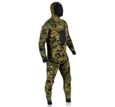 Spearfishing wetsuits, like this one from JBL, feature a padded chest and camouflage patterns. Photo courtesy JBL