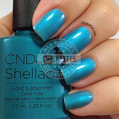 CND Shellac Garden Muse Collection - Lost Labyrinth - swatch by Chickettes.com