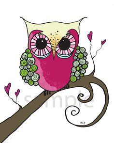 Kids Wall Art  De Owl 8x10 Art Print by bealoo on Etsy, $15.00