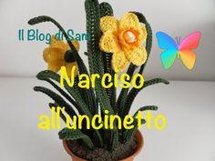 Crochet uncinetto fiore narciso tutorial - YouTube