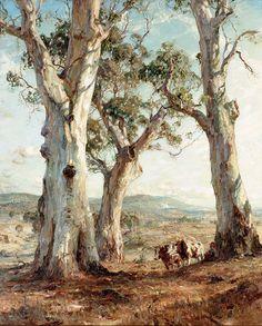 'The Three Gums' by Hans Heysen (Art Gallery of Ballarat, Victoria) www.artpublishing.com.au www.artgalleryofballarat.com.au www.hansheysen.com.au