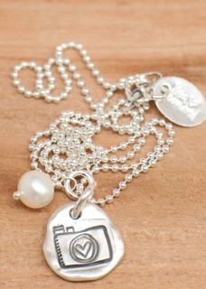 Pretty camera necklace from Lisa Leonard