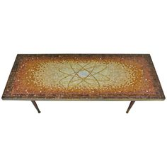 Atomic Design Mosaic Tile Coffee Table by Genaro Alvarez, circa 1955 | From a unique collection of antique and modern coffee and cocktail tables at https://www.1stdibs.com/furniture/tables/coffee-tables-cocktail-tables/