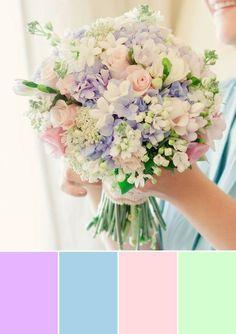 Color palette for wedding Colors Of Candies Pastel Wedding Theme, Aqua Wedding, Rainbow Wedding, Wedding Themes, Pink Wedding Colors, Summer Wedding Decorations, Summer Wedding Bouquets, Flower Bouquet Wedding, Pastel Bouquet