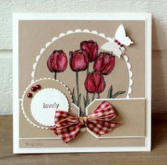Love the red against the kraft and the die cut details.