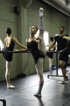 ballet barre...fabulous extension....dance inspiration Your Body is a Wonderland http://pinterest.com/wineinajug/your-body-is-a-wonderland/