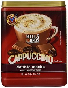 Hills Bros Coffee Instant Cappuccino Double Mocha Jars Pack of 6 by Hills Brothers *** Check out the image by visiting the link. (This is an affiliate link) Best Instant Coffee, Best Coffee, Snack Jars, Coffee Substitute, Summertime Drinks, Vanilla Ice Cream, Chocolate Flavors, Mixed Drinks, Mochi