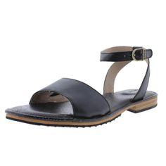 Bogs 7468 Womens Memphis Black Leather Flat Sandals Shoes 8 Medium (B,M) BHFO #Bogs #Strappy
