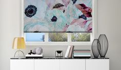 Big Flower Blossoms #printed #rollerblinds #upcycle #windowtreatments #windowdecor @decoshaker