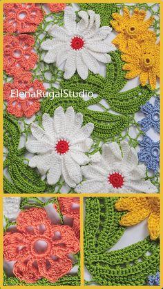 Freeform Crochet, Irish Crochet, Crochet Flowers, Crochet Lace, Irish Lace, Simple Designs, Crocheting, Needlework, Crochet Patterns