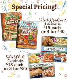 Special cookbook pricing at the fair...look for matching online deals that weekend too!