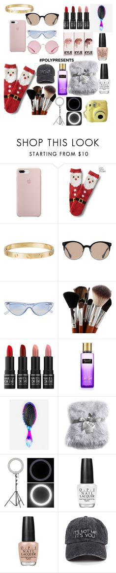 """""""#PolyPresents: Last-Minute Gifts"""" by kenna-kenna ❤ liked on Polyvore featuring Aéropostale, Cartier, Balenciaga, MAKE UP FOR EVER, Victoria's Secret, The Wet Brush, Nicole Miller, Fuji, OPI and Ray-Ban"""