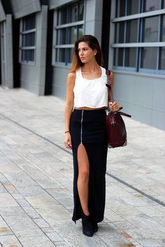 Negin from Negin Mirsalehi in the Zip It Up Maxi Skirt (http://www.nastygal.com/product/zip-it-up-maxi-skirt)