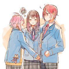 pixiv(ピクシブ)は、作品の投稿・閲覧が楽しめる「イラストコミュニケーションサービス」です。幅広いジャンルの作品が投稿され、ユーザー発の企画やメーカー公認のコンテストが開催されています。 Anime Couples Drawings, Couple Drawings, Anime Love Triangle, Chibi Characters, Ensemble Stars, Mystic Messenger, Pretty Art, Anime Art, Kawaii