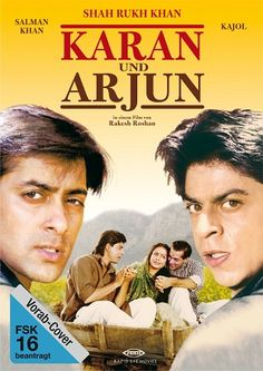 Karan Arjun (1995) Full Movie 300MB Hindi Dual Audio DVDRip 480p Worldfree4u