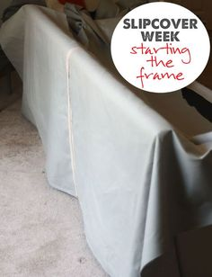 part five of a step by step guide for making slipcovers