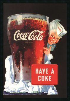 Coca Cola Have a Coke Framed Vintage Advertisement