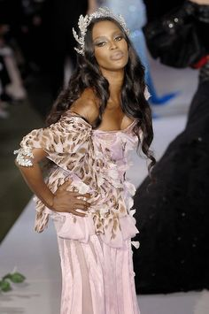 Naomi Campbell at Christian Dior Haute Couture Fall 2007.