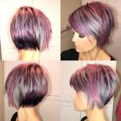 Pin by kirstin claire on hair in 2019 cabello cortito, peinados pelo corto, Short Layered Haircuts, Cute Hairstyles For Short Hair, Short Hair Cuts, Short Hair Styles, Color For Short Hair, Short Layered Bobs, Colored Short Hair, Choppy Haircuts, Short Layers