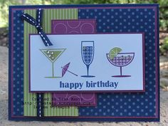 Love this color combo and stamp set