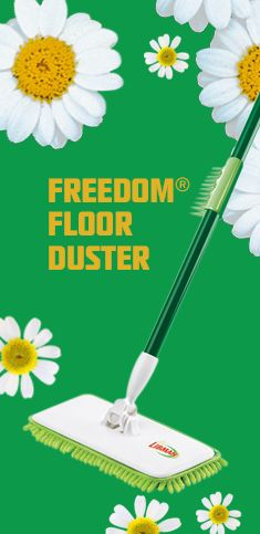 This duster's microfiber fingers offer 5X more cleaning surface area than a similarly sized flat mop. Specially designed comb removes dust, lint, and pet hair from the duster.
