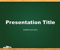 Green Chalkboard PowerPoint template is a free template slide design that you can download for presentations on education